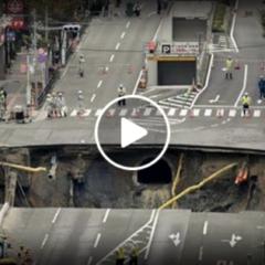 Giappone: Voragine riparata in 48 ore (Video time-lapse)