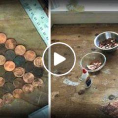 Incolla 15mila monetine sul pavimento. Il risultato vi lascerà a bocca aperta